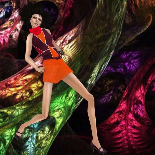 Dot-be dress Linde Orange