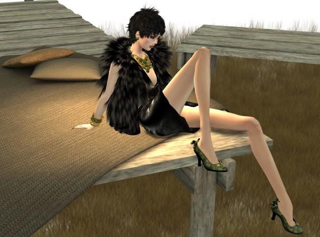 KL Couture Kendra dress Mesh Black & EclecticaArtifact Jeweller Gold
