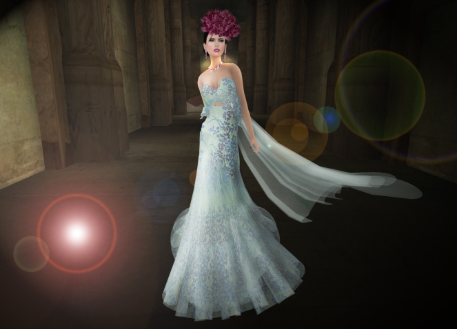 Romance Couture Sakura Blue Gown