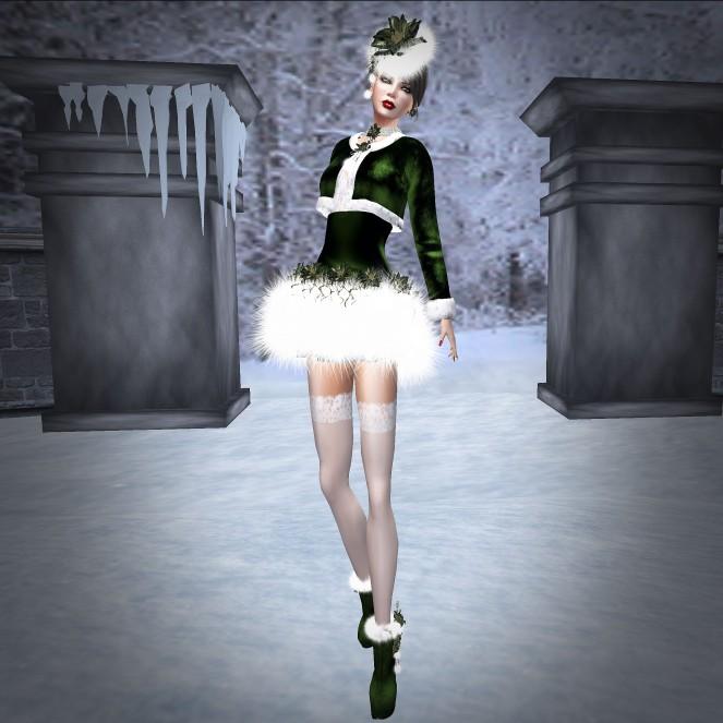 NSP Santa Baby Outfit Green