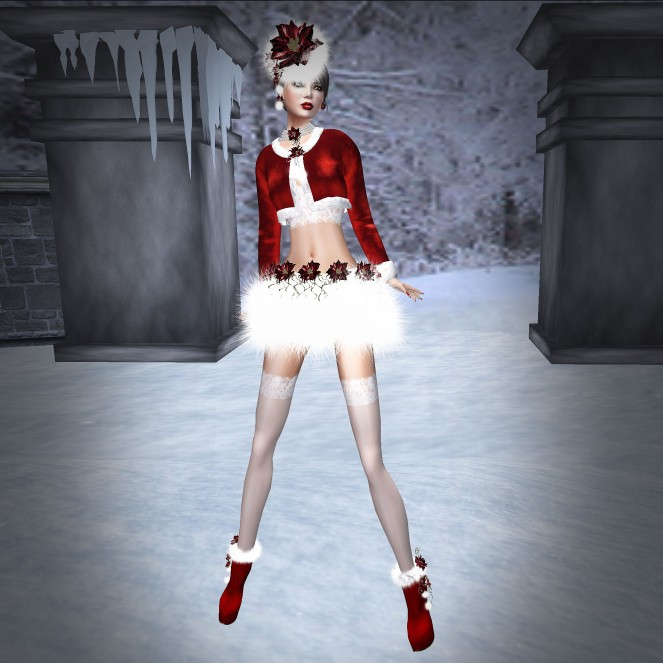 NSP Santa Baby Outfit Red
