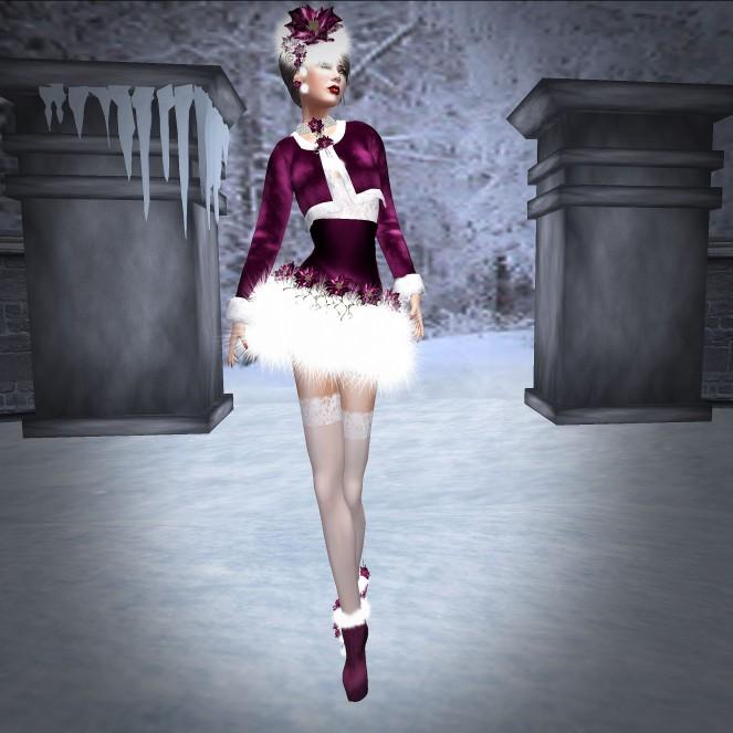 NSP Santa Baby Outfit Rose