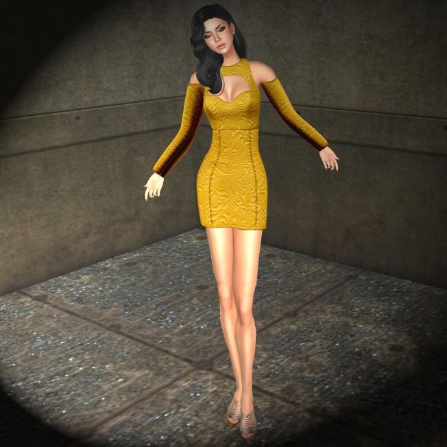 Glow DesignsBodycon Dress Mustard