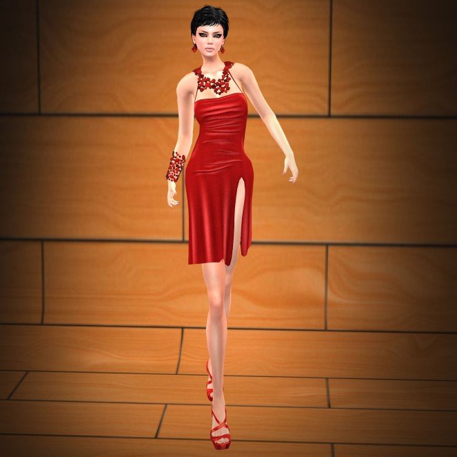 KL Couture Hollywood red