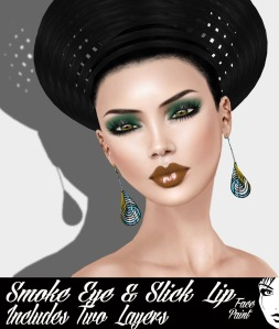 Face Paint Smoke Eye and Slick Lip Green and Pumpkin