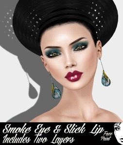 Face Paint Smoke Eye and Slick Lip Teal and Scarlet