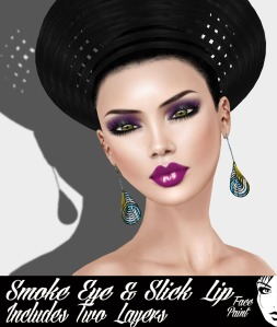 Face Paint Smoke Eye and Slick Lip Violet and Wine