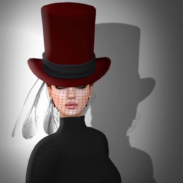 Christmas Veiled Red Top Hat Stone's Works