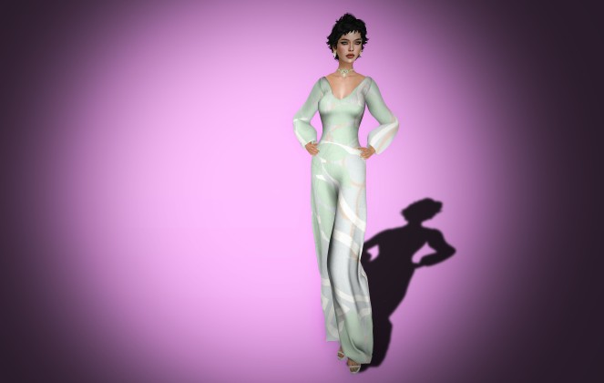 Ghee Soft Jumpsuit and Long Fringe Heels in Dove