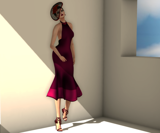 Snowpaws Carlisle Magenta Dress and KC NENYA HEELS