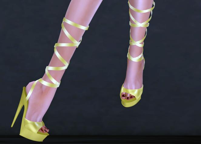 Al-Hanna Helena Heels Yellow