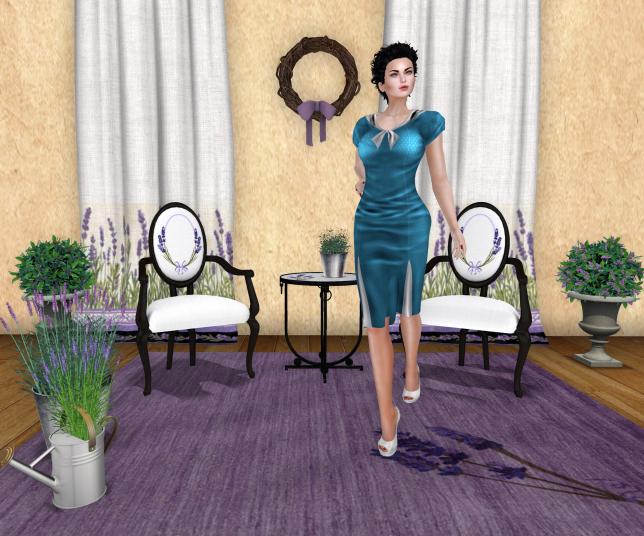 Kaerri Lavandre Set and Black Rose Designs LUCY RETRO DRESS