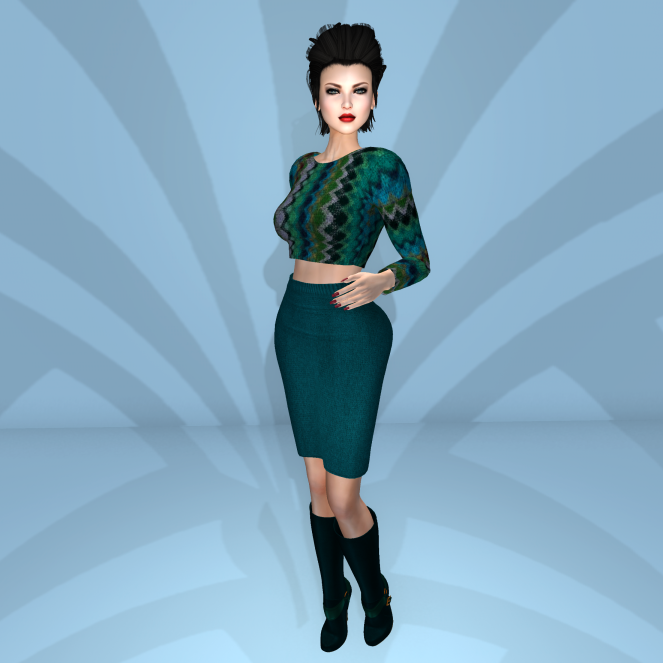 Emerald Couture Sexy In the Fall Teal w boots