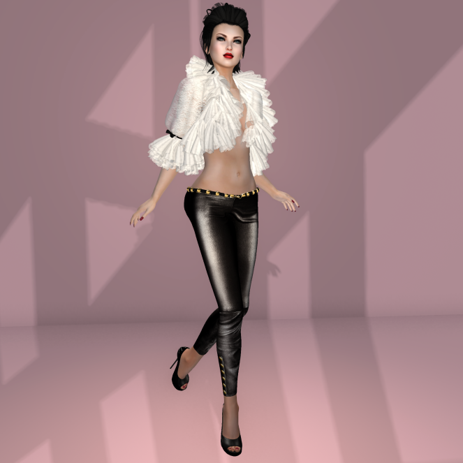 KL Couture Rebel white black w appliers