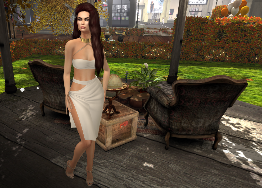 ello. Valentina Outfit with Stealthic - Sirens hair in Browns