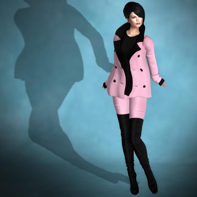 YELIZ MESH MARISA Jacket Pant Boots w hud