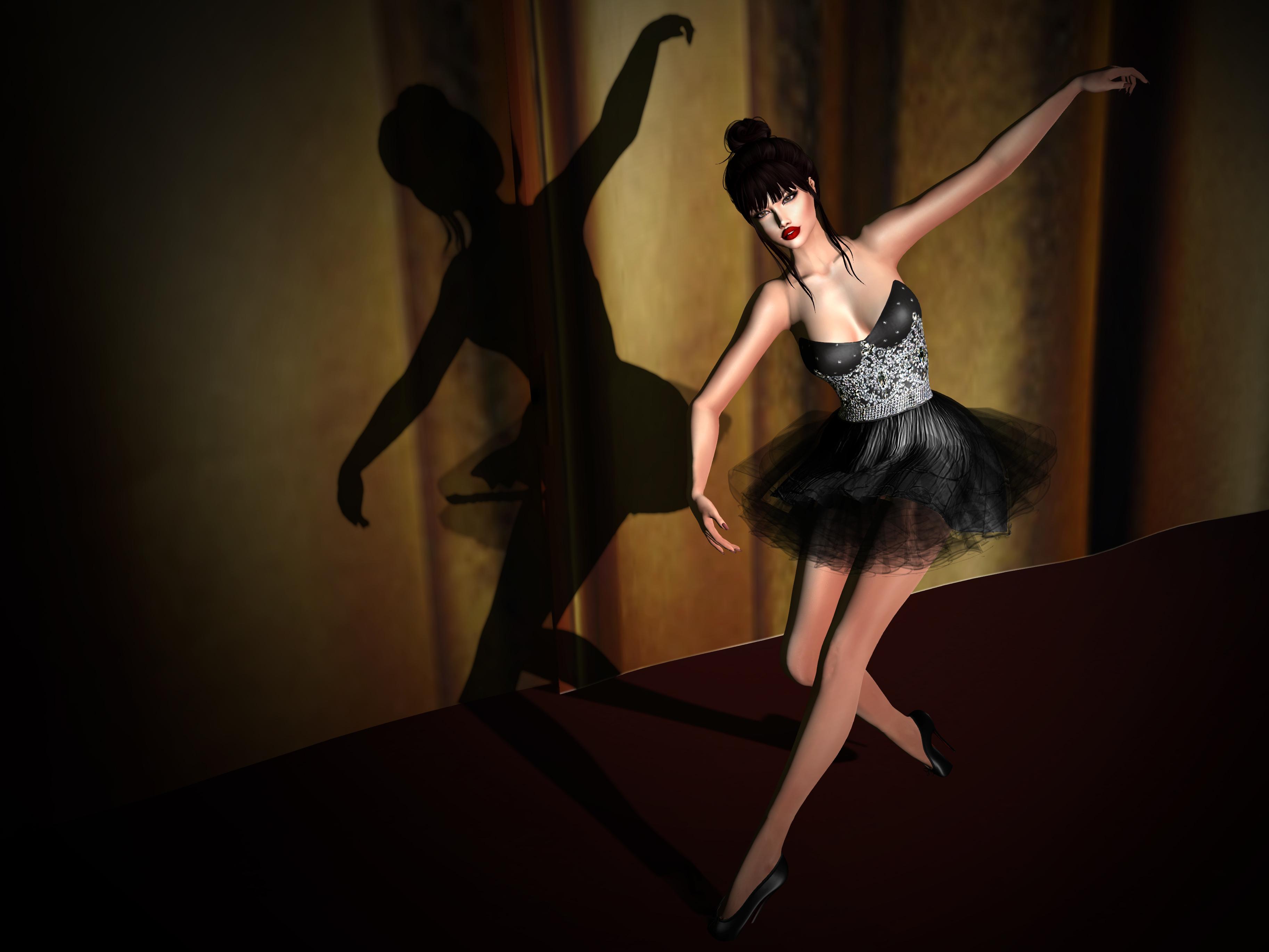 Shoenique Designs Melynda Black Cocktail Dress